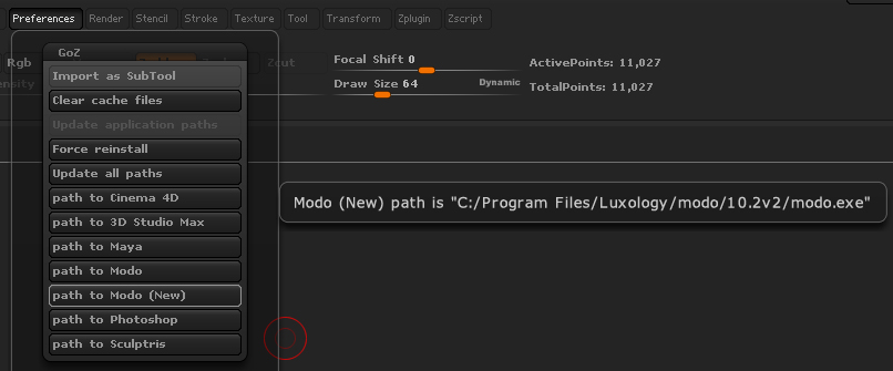 Q100331: Troubleshooting the GoZ plug-in for Modo 10 1