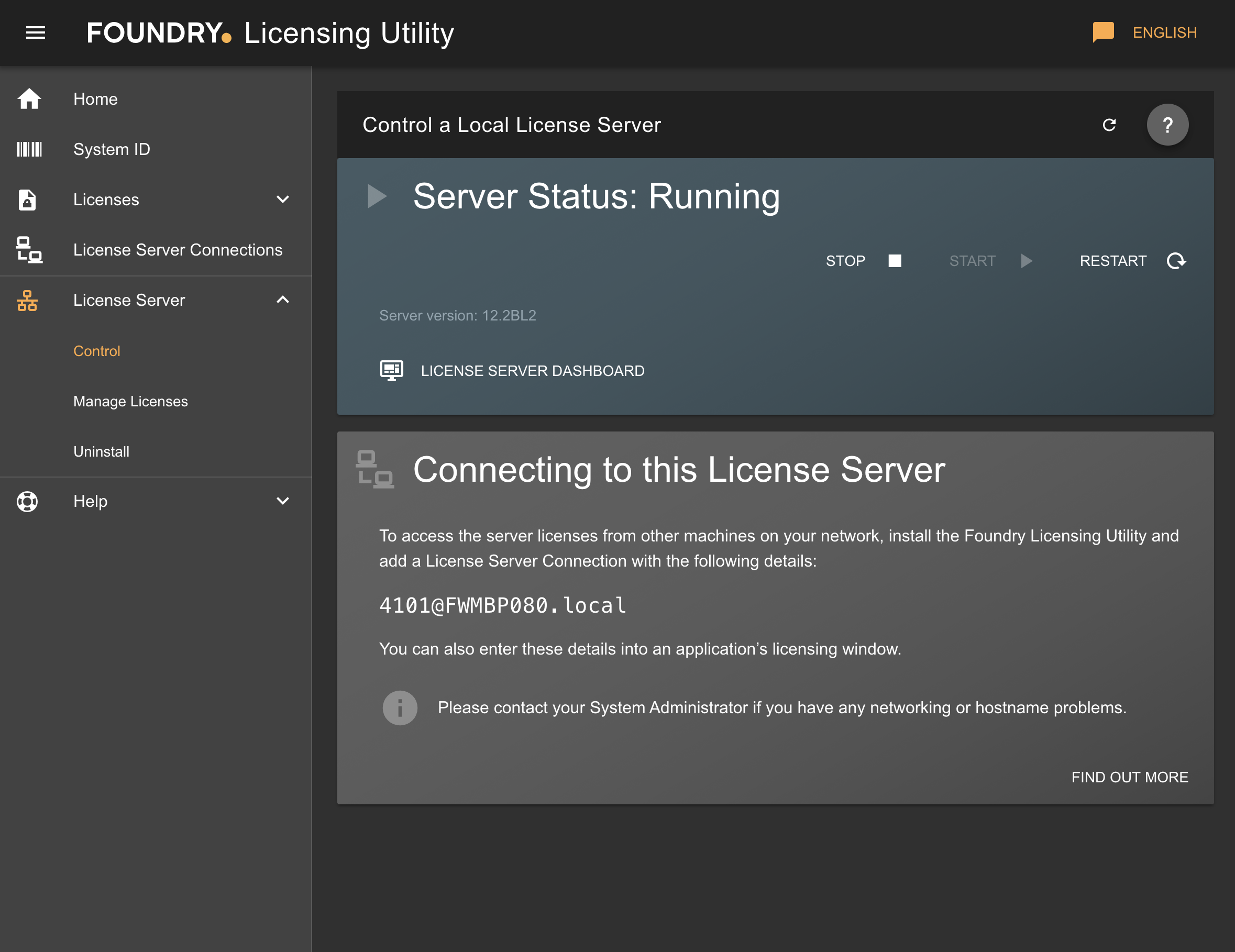 Q100532: How to manage your License Server using the Foundry